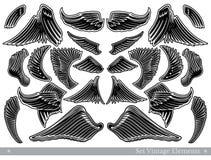 Geïsoleerde reeks uitstekende vleugels vector illustratie