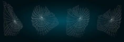 Geïsoleerde reeks van spiderweb ?? obweb vector illustratie