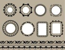 Geïsoleerde reeks van zwart kader Stock Afbeelding