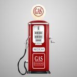 Geïsoleerde retro benzinepomp Royalty-vrije Stock Afbeeldingen