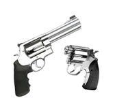 Geïsoleerde revolvers Stock Afbeeldingen
