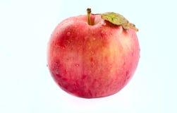 Geïsoleerde rode appel Stock Foto's