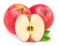 Geïsoleerde Rode appelen Stock Foto's