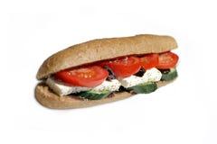 Geïsoleerde sandwich Royalty-vrije Stock Fotografie