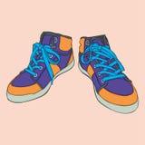 Geïsoleerde2 schoenen Stock Afbeelding