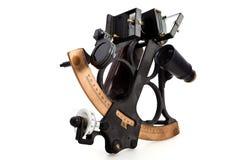 Geïsoleerde sextant Stock Foto