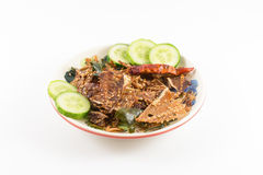 Geïsoleerde snackvisgraat en kruiden Royalty-vrije Stock Afbeelding