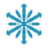 Geïsoleerde Sneeuwvlokvorm vector illustratie