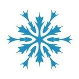 Geïsoleerde Sneeuwvlokvorm stock illustratie