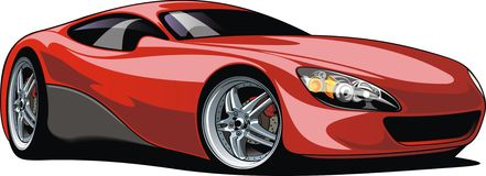Geïsoleerde sportwagen vector illustratie