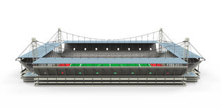 Geïsoleerde stadion de Bouw Royalty-vrije Stock Foto's