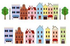 Geïsoleerde stadsreeks, Stock Afbeelding