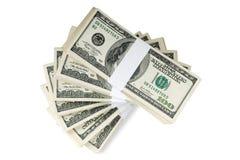 Geïsoleerde Stapels van Geld Stock Fotografie