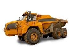 Geïsoleerde stortplaatsvrachtwagen Stock Afbeeldingen