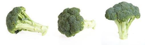Geïsoleerde stukken van brocoli Stock Foto's