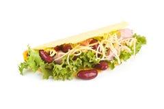 Geïsoleerde taco. Royalty-vrije Stock Fotografie
