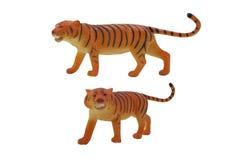 Geïsoleerde tijgerstuk speelgoed foto Royalty-vrije Stock Afbeelding