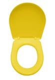 Geïsoleerde toiletzetel - geel royalty-vrije stock foto