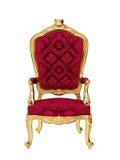Geïsoleerde troon Royalty-vrije Stock Foto's