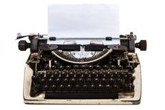 Geïsoleerde Uitstekende Schrijfmachine met Thais alfabet royalty-vrije stock foto