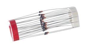 Geïsoleerde vastgebonden dioden Royalty-vrije Stock Foto
