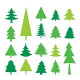 Geïsoleerde Vector van boom de Vrolijke Kerstmis Pictogram Stock Fotografie