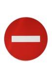 Geïsoleerde Verboden Verkeersteken Stock Foto
