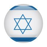 Geïsoleerde vlag van Israël vector illustratie