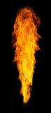 Geïsoleerde vlammen royalty-vrije stock afbeelding