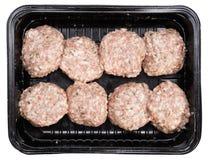 Geïsoleerde vleesballen Stock Afbeeldingen