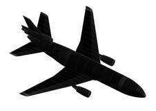 Geïsoleerde vliegtuig 3D blauwdruk - royalty-vrije stock foto