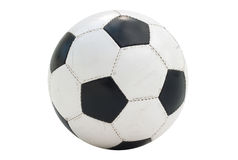 Geïsoleerde voetbal-bal royalty-vrije stock foto's