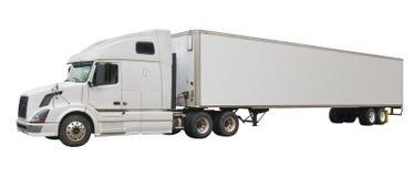 Geïsoleerde vrachtwagen, Stock Foto's