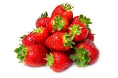 Geïsoleerde vruchten, aardbeien Stock Foto