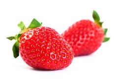 Geïsoleerde vruchten - Aardbeien Royalty-vrije Stock Afbeeldingen