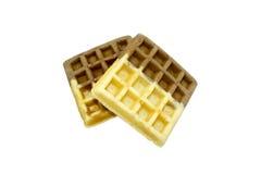 Geïsoleerde wafel Stock Foto