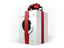 Geïsoleerde wasmachine Stock Afbeelding