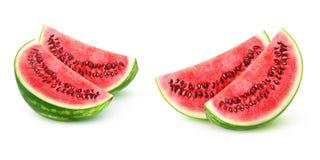 Geïsoleerde Watermeloenstukken Royalty-vrije Stock Foto