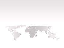 Geïsoleerde wereldkaart Royalty-vrije Stock Fotografie