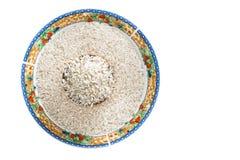 Geïsoleerde Witte Rijst in de Kom van China Royalty-vrije Stock Foto's