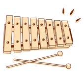 Geïsoleerde xylofoon Stock Foto's