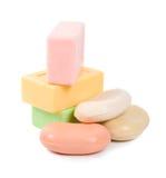 Geïsoleerde zeep Stock Foto