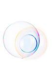 geïsoleerde zeepbels royalty-vrije stock afbeeldingen