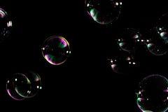 geïsoleerde zeepbels Stock Foto