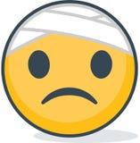 Geïsoleerde zieken emoticon Geïsoleerd emoticon royalty-vrije illustratie