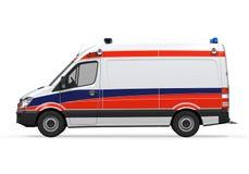 Geïsoleerde ziekenwagen Royalty-vrije Stock Foto