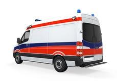 Geïsoleerde ziekenwagen Stock Foto