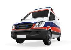 Geïsoleerde ziekenwagen Stock Afbeeldingen