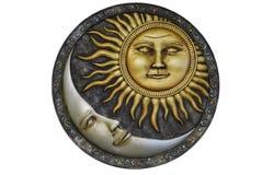 Geïsoleerde zon en Maan - Royalty-vrije Stock Foto