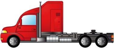 Geïsoleerde zware semi vrachtwagen Stock Foto's